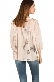 Hoss Intropia | Lace-up blouse Rosanna | roze  | Afbeelding 5