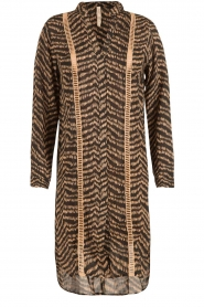 BEACHGOLD | Lange blouse Cruz | bruin  | Afbeelding 1