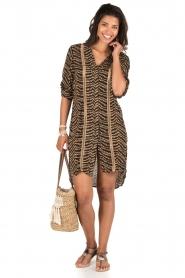 BEACHGOLD | Lange blouse Cruz | bruin  | Afbeelding 3