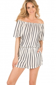 BEACHGOLD | Off-shoulder playsuit Cruise | wit  | Afbeelding 2
