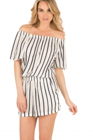 BEACHGOLD | Off-shoulder playsuit Cruise | wit  | Afbeelding 4