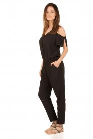 Aaiko | Off-shoulder jumpsuit Paili | zwart  | Afbeelding 3