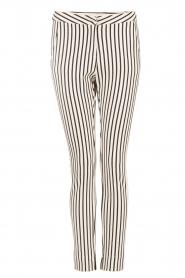 Aaiko | Pantalon Sarene | zwartwit  | Afbeelding 1