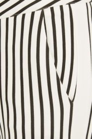 Aaiko | Pantalon Sarene | zwartwit  | Afbeelding 6