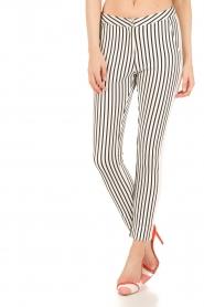 Aaiko | Pantalon Sarene | zwartwit  | Afbeelding 2