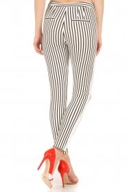 Aaiko | Pantalon Sarene | zwartwit  | Afbeelding 5