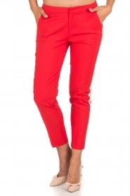 Aaiko | Pantalon Sarene | rood  | Afbeelding 4