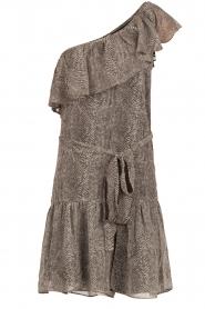 Aaiko | Off-shoulder jurk Janina | grijs  | Afbeelding 1