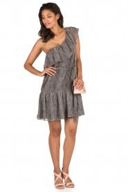 Aaiko | Off-shoulder jurk Janina | grijs  | Afbeelding 3