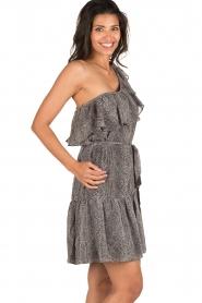 Aaiko | Off-shoulder jurk Janina | grijs  | Afbeelding 4
