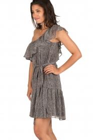 Aaiko | Off-shoulder jurk Janina | grijs  | Afbeelding 5