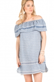 Rough Studios |  Off-shoulder dress Alice | blue   | Picture 2