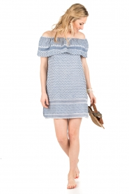 Rough Studios |  Off-shoulder dress Alice | blue   | Picture 3