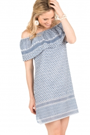 Rough Studios |  Off-shoulder dress Alice | blue   | Picture 4