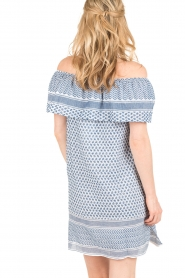 Rough Studios |  Off-shoulder dress Alice | blue   | Picture 5