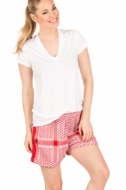 Rough Studios | Highwaisted shorts Devito | rood  | Afbeelding 4