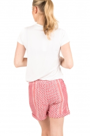 Rough Studios | Highwaisted shorts Devito | rood  | Afbeelding 5