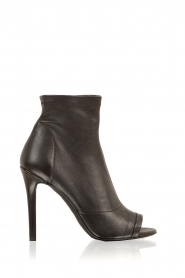 Leather peep toes Belle | black