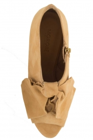 Morobé | Suéde peep toes Axcelle | beige  | Afbeelding 6
