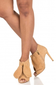 Morobé | Suéde peep toes Axcelle | beige  | Afbeelding 2