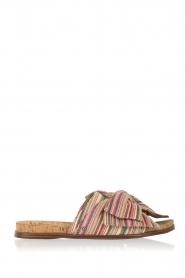 Maak jouw zomer look af met deze vrolijke sandalen van sam edelman! de sandalen zijn gemaakt een kleurrijke ...