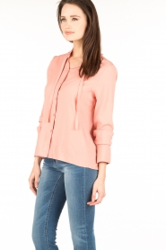 Essentiel Antwerp |  Pussybow blouse Nemo | pink  | Picture 4
