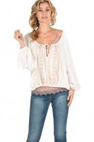 Mes Demoiselles |  Off-shoulder blouse Jeronimo | white  | Picture 2