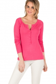 Blaumax |  Fine knitted sweater Granada | pink  | Picture 3