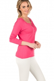 Blaumax |  Fine knitted sweater Granada | pink  | Picture 4