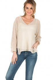 Blaumax |  Linen sweater Lynette | natural  | Picture 2