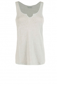 BLAUMAX |  Linen tank top Madrid | green  | Picture 1