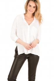 BLAUMAX | Linnen blouse Columbia | wit  | Afbeelding 2