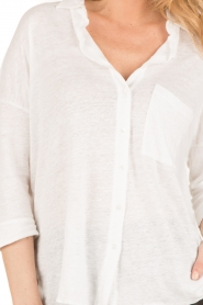 BLAUMAX | Linnen blouse Columbia | wit  | Afbeelding 6