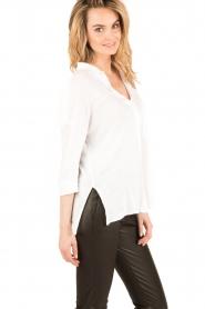 BLAUMAX | Linnen blouse Columbia | wit  | Afbeelding 4