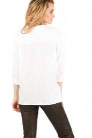 BLAUMAX | Linnen blouse Columbia | wit | Afbeelding 5