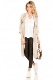 BLAUMAX | Linnen blouse Columbia | wit  | Afbeelding 3