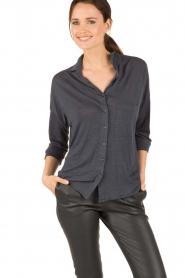BLAUMAX | Linnen blouse Columbia | blauw  | Afbeelding 2
