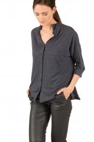 BLAUMAX | Linnen blouse Columbia | blauw  | Afbeelding 3