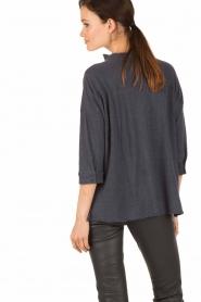 BLAUMAX | Linnen blouse Columbia | blauw  | Afbeelding 4