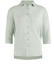 BLAUMAX |  Linen blouse Columbia | green  | Picture 1