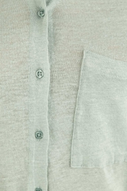 BLAUMAX |  Linen blouse Columbia | green  | Picture 5