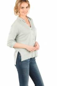 BLAUMAX |  Linen blouse Columbia | green  | Picture 3