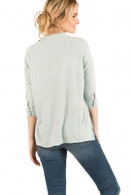 BLAUMAX |  Linen blouse Columbia | green  | Picture 4