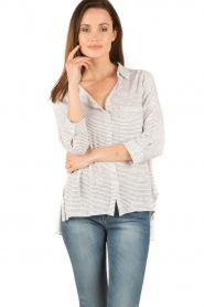 Blaumax |  Linen blouse Columbia Fine Stripe | stripes  | Picture 2