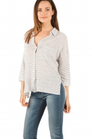 Blaumax |  Linen blouse Columbia Fine Stripe | stripes  | Picture 3