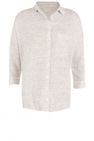 Blaumax |  Linen blouse Columbia Fine Stripe | stripes  | Picture 1