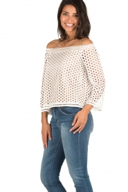 NIKKIE | Off-shoulder blouse Rona Bardot | wit  | Afbeelding 4