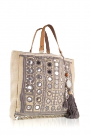 Star Mela | Jute shopper Pinki | grijs  | Afbeelding 3