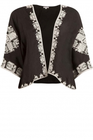 Star Mela | Kimono Felka | zwart  | Afbeelding 1