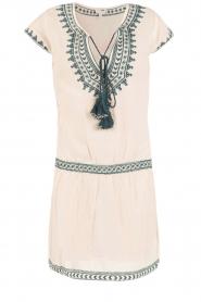 Star Mela | Geborduurde jurk Smiti | naturel  | Afbeelding 1